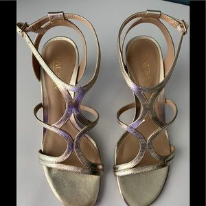Lauren Ralph Lauren Shoes - NWT LAUREN RALPH LAUREN SANDAL. Silver Metallic.